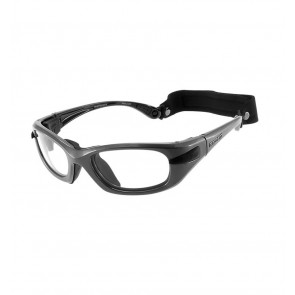Sports glasses PROGEAR Eyeguard L, shiny metallic grey